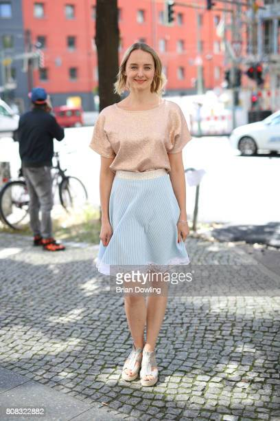AnneCatrin Maerzke is seen during the MercedesBenz Fashion Week Berlin Spring/Summer 2018 at Kaufhaus Jandorf on July 4 2017 in Berlin Germany