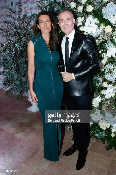 AnneClaire Coudray and JeanClaude Jitrois attend the 16th Sidaction as part of Paris Fashion Week on January 25 2018 in Paris France