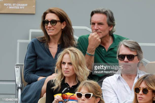 AnneClaire Coudray and Nicolas Vix attend the 2019 French Tennis Open Day Nine at Roland Garros on June 03 2019 in Paris France