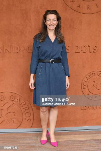 AnneClaire Coudray attends the 2019 French Tennis Open Day Eight at Roland Garros on June 03 2019 in Paris France