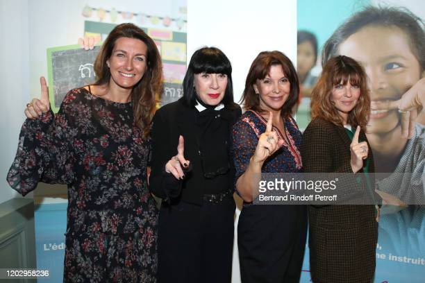 AnneClaire Coudray Chantal Thomass Founding President of Toutes a l'Ecole Tina Kieffer and Gwendoline Hamon attend the Levons le Doigt pour...