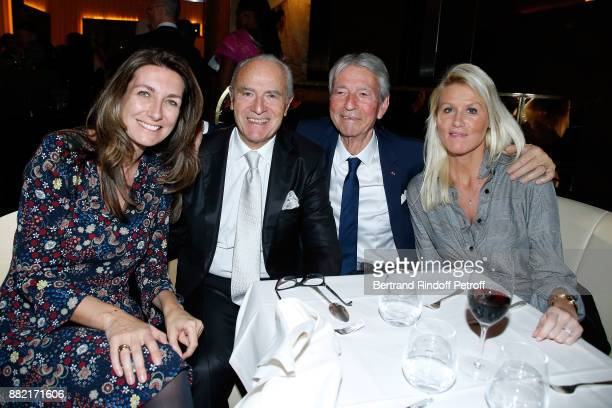 AnneClaire Coudray Director of the Le Relais Plaza Restaurant Werner Kuchler JeanClaude Narcy and Alice Bertheaume attend The Swing in Relais Evening...