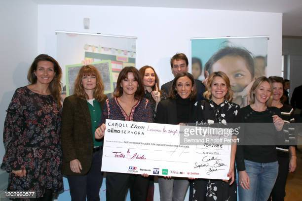 AnneClaire Coudray Gwendoline Hamon Founding President of Toutes a l'Ecole Tina Kieffer Julian Bugier Laura Tenoudji and Ludivine Sagnier attend the...