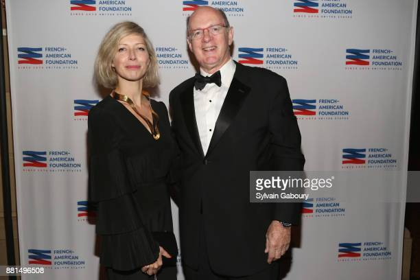 AnneClaire Legendre and Antoine Treuille attend French American Foundation Annual Gala 2017 at Gotham Hall on November 28 2017 in New York City