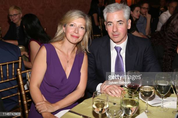Anne-Claire Legendre and Bill Ackman attend 2019 Pershing Square Sohn Prize Dinner at Consulate General of France on May 22, 2019 in New York City.