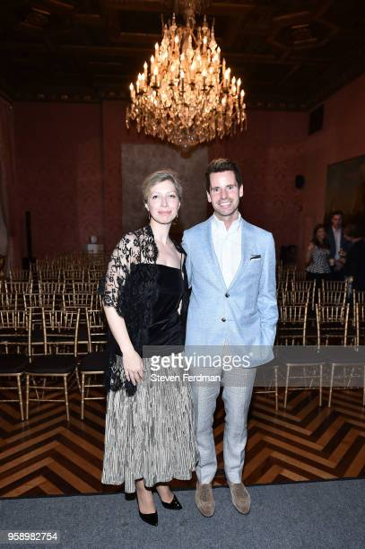 AnneClaire Legendre and James G Brooks Jr attend FIAF Young Patrons and Carnegie Hall Notables Spring Soiree at The French Consulate on May 15 2018...