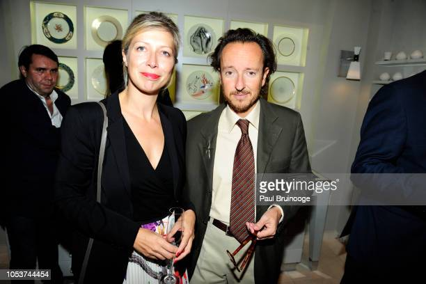 AnneClaire Legendre and Joan Punyet Miró attend Launch of 'Parler Seul' collection with Mr Michel Bernardaud and Mr Joan Punyet Miró at Bernardaud...