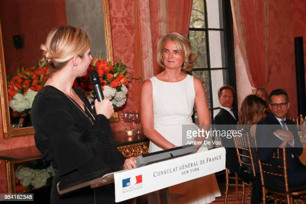 AnneClaire Legendre and Oliva Flatto speak at the Launch of the Paris Opera 350th Anniversary in New York with the American Friends of the Paris...