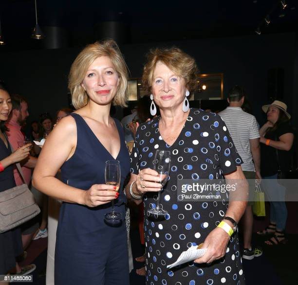 AnneClaire Legendre Consul General of France in New York and MarieMonique Stekel President of FIAF attend FIAF's Bastille Day On 60th Street on July...