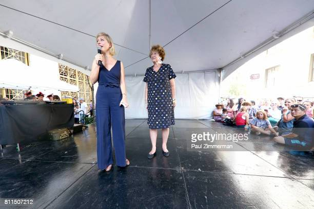 AnneClaire Legendre Consul General of France in New York and MarieMonique Stekel President of FIAF speak onstage at the FIAF's Bastille Day On 60th...