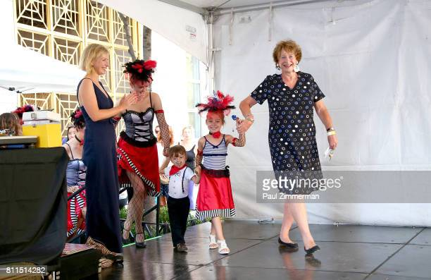 AnneClaire Legendre Consul General of France in New York and MarieMonique Stekel President of FIAF onstage at the FIAF's Bastille Day On 60th Street...