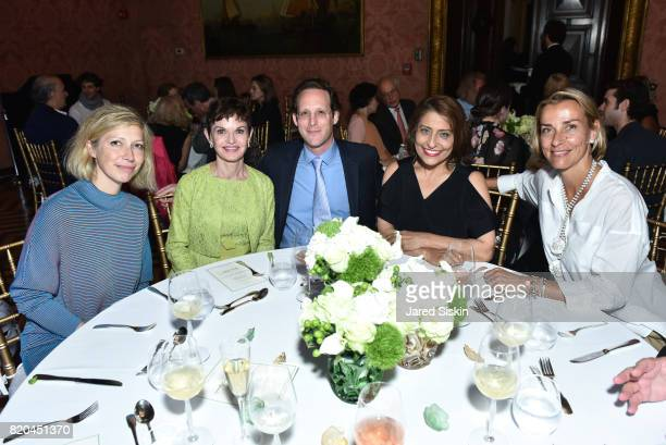 AnneClaire Legendre Consul General of France in New York Denise Littlefield Sobel Jeff Hirsch Muna Rihani AlNasser and MarieFrance Kern attend the...