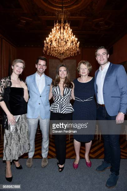 AnneClaire Legendre James G Brooks Jr Clemence von Mueffling MarieMonique Steckel and Patrick Kirby attend FIAF Young Patrons and Carnegie Hall...