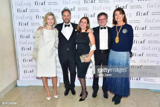AnneClaire Legendre Jerome Bel Benedicte De Montlaur JeanCharles Trehan and Guest attend Sidney Toledano and Peter Marino being honored at French...