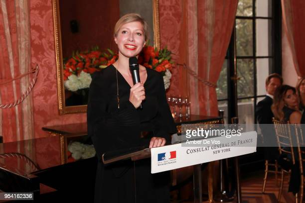 AnneClaire Legendre speaks at the Launch of the Paris Opera 350th Anniversary in New York with the American Friends of the Paris Opera and Ballet at...