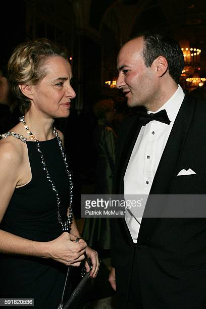 AnneClaire Taittinger and Victor Luis attend Baccarat Presents the 2nd Annual UNICEF SNOWFLAKE BALL at WaldorfAstoria Hotel on November 28 2005 in...