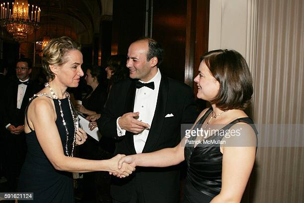 AnneClaire Taittinger Victor Luis and Carine Luis attend Baccarat Presents the 2nd Annual UNICEF SNOWFLAKE BALL at WaldorfAstoria Hotel on November...