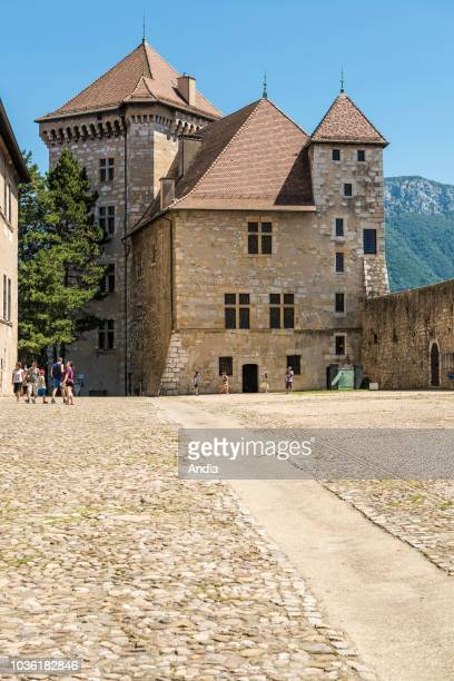 inner courtyard of the castle of Annecy