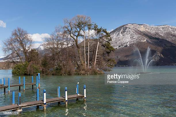 annecy (haute savoie) - lake annecy stock photos and pictures