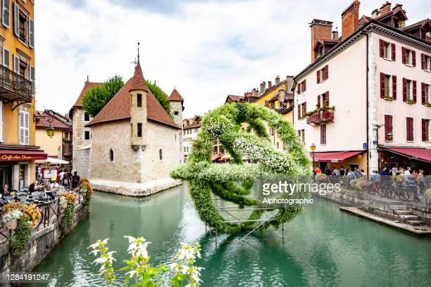 annecy prison on the canal - haute savoie stock pictures, royalty-free photos & images