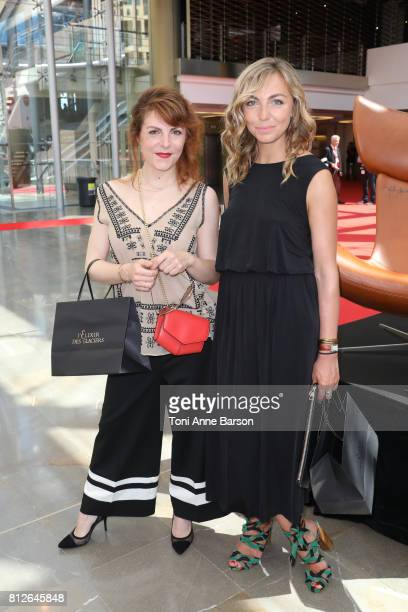 AnneElisabeth Blateau and Amelie Etasse attend photocall for 'Scenes de Menages' on June 17 2017 at the Grimaldi Forum in MonteCarlo Monaco