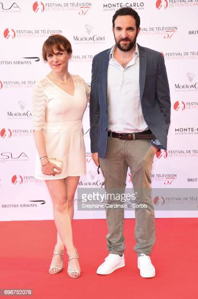 AnneElisabeth Blateau and David Mora attend the 57th Monte Carlo TV Festival Opening Ceremony on June 16 2017 in MonteCarlo Monaco