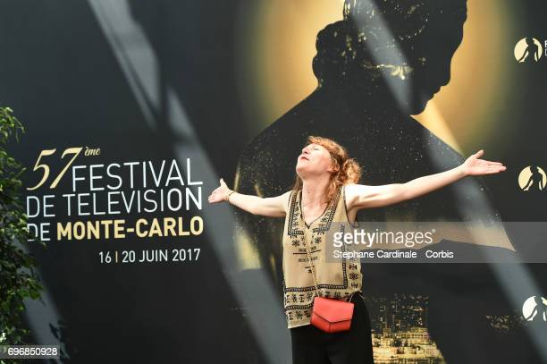AnneElisabeth Blateau from TV Show 'Scenes de Menages' pose for a Photocall during the 57th Monte Carlo TV Festival Day Two on June 17 2017 in...