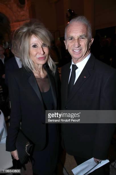 AnneFlorence Schmitt and Alain Terzian attend the Cesar Revelations 2020 at Petit Palais on January 13 2020 in Paris France