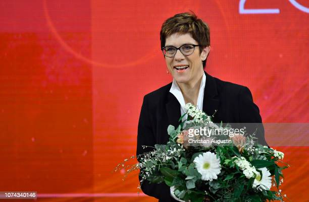 Annegret KrampKarrenbauer attends the TV show 'Menschen 2018 der ZDF Jahresrueckblick' at Phoenixhof on December 17 2018 in Hamburg Germany