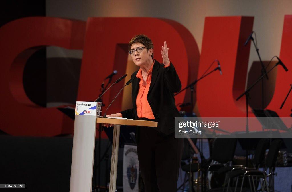 CDU Holds Political Ash Wednesday Gathering : News Photo