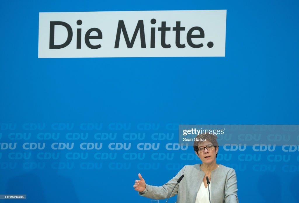 CDU And CSU Leadership Meet In Berlin : News Photo