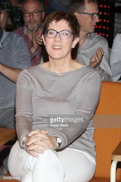 Annegret KrampKarrenbauer during the '3Nach9' talk show on September 28 2018 in Bremen Germany
