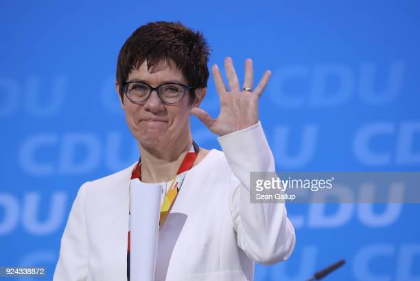 Annegret KrampKarrenbauer who is likely to become the next general secretary of the German Christian Democrats attends the 30th CDU party congress on...