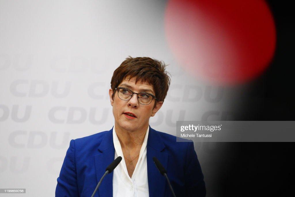 Annegret Kramp-Karrenbauer To Step Down As CDU Leader : ニュース写真