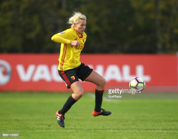 Anneka Nuttall of Watford Ladies during Women's Super League 2 match between Watford Ladies v Tottenham Hotspur Ladies at Kings Langley FC...
