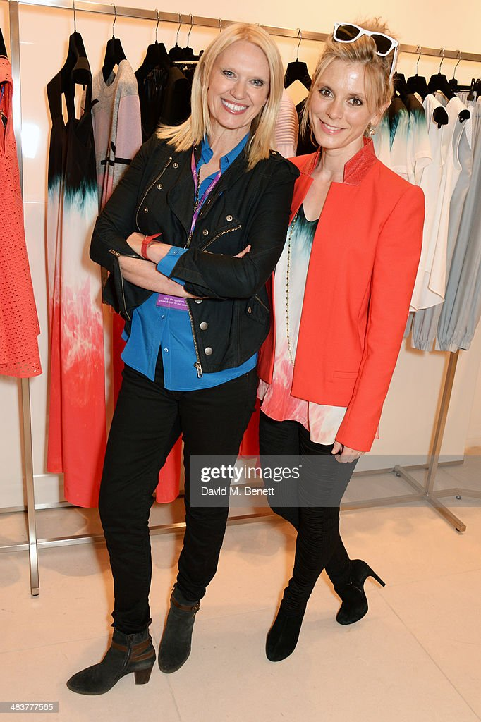 Anneka Rice (L) and Emilia Fox attend the Shop with the Stars, a public shopping evening to celebrate The Olivier Awards with MasterCard, to raise funds & awareness of the theatrical charity Acting For Others, at Fenwick Of Bond Street on April 10, 2014 in London, England.