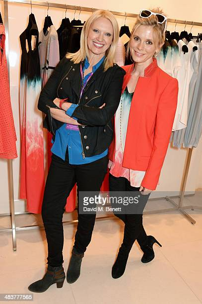 Anneka Rice and Emilia Fox attend the Shop with the Stars a public shopping evening to celebrate The Olivier Awards with MasterCard to raise funds...