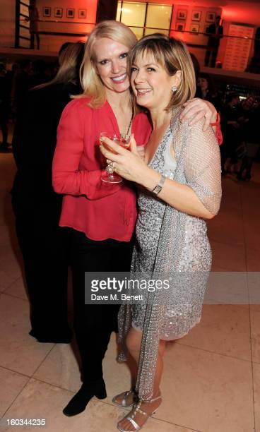 Anneka Rice and host Penny Smith attend a drinks reception at the 2012 Costa Book of the Year awards at Quaglino's on January 29 2013 in London...