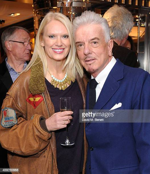 Anneka Rice and Nicky Haslam attend the launch of Nicky Haslam's new book 'A Designer's Life' at Ralph Lauren on November 19 2014 in London England
