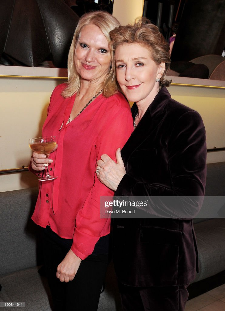 Anneka Rice (L) and Patricia Hodge attend a drinks reception at the 2012 Costa Book of the Year awards at Quaglino's on January 29, 2013 in London, England.