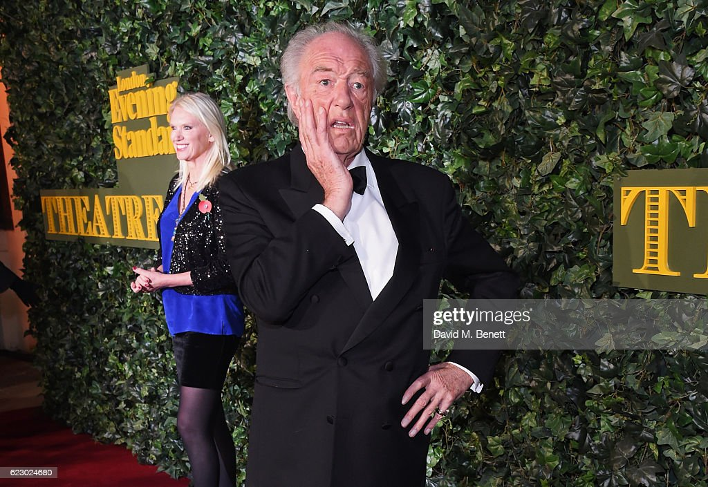 Anneka Rice (L) and Sir Michael Gambon arrive at The 62nd London Evening Standard Theatre Awards, recognising excellence from across the world of theatre and beyond, at The Old Vic Theatre on November 13, 2016 in London, England.