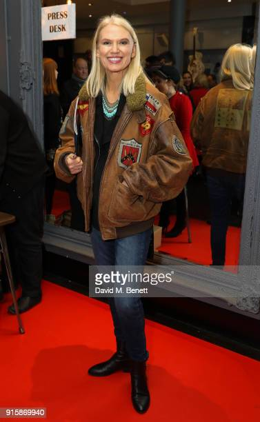 Anneka Rice arrives at the press night performance of 'All Or Nothing The Mod Musical' at The Arts Theatre on February 8 2018 in London England