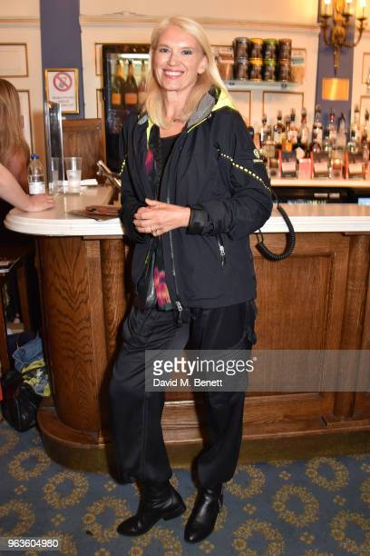 Anneka Rice arrives at the press night performance of 'Consent' at the Harold Pinter Theatre on May 29 2018 in London England