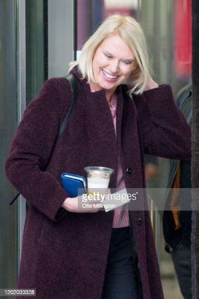 Anneka Rice at the BBC Broadcasting House on January 26 2020 in London England