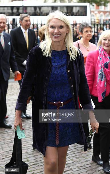 Anneka Rice attends a memorial service for the late Sir Terry Wogan at Westminster Abbey on September 27 2016 in London England