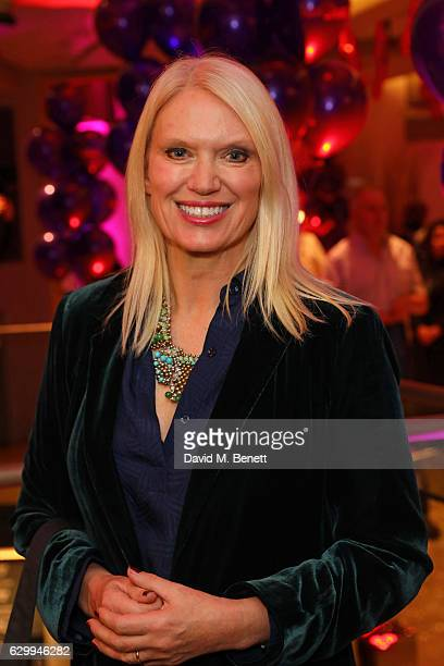Anneka Rice attends a postshow drinks reception following the Gala Night performance of Matthew Bourne's The Red Shoes at Sadler's Wells Theatre on...