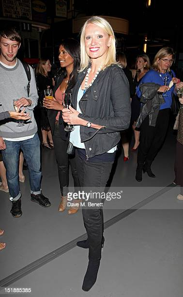 Anneka Rice attends an after party celebrating the Mamma Mia Gala Performance in support of BBC Children In Need at the London Transport Museum on...