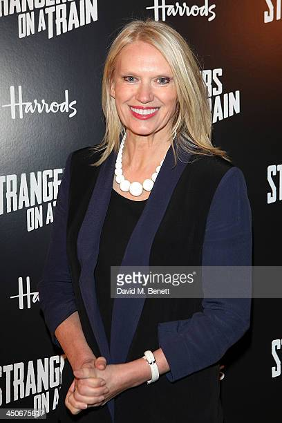 Anneka Rice attends an after party following the press night performance of 'Strangers On A Train' at the Cafe de Paris on November 19 2013 in London...