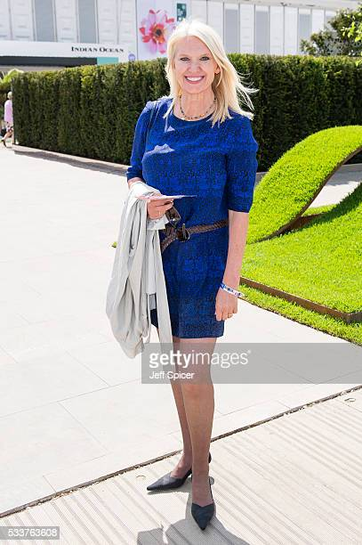 Anneka Rice attends Chelsea Flower Show press day at Royal Hospital Chelsea on May 23 2016 in London England