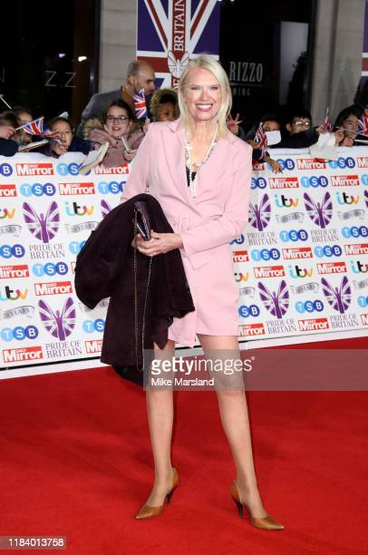Anneka Rice attends Pride Of Britain Awards 2019 at The Grosvenor House Hotel on October 28 2019 in London England